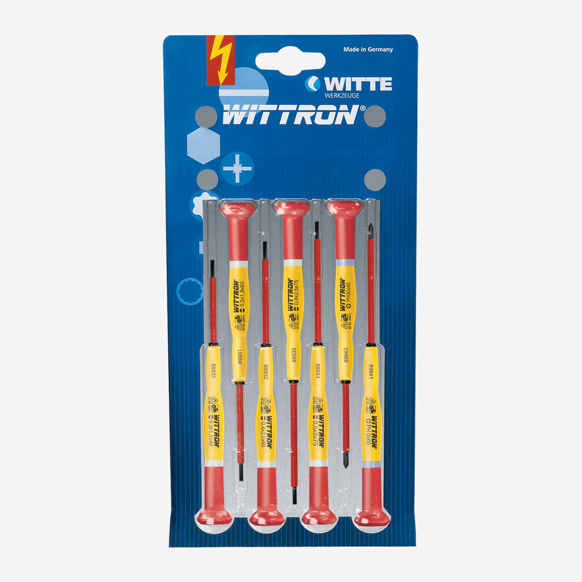 Witte 89377 7 Piece Wittron Insulated Slotted and Phillips Set - KC Tool