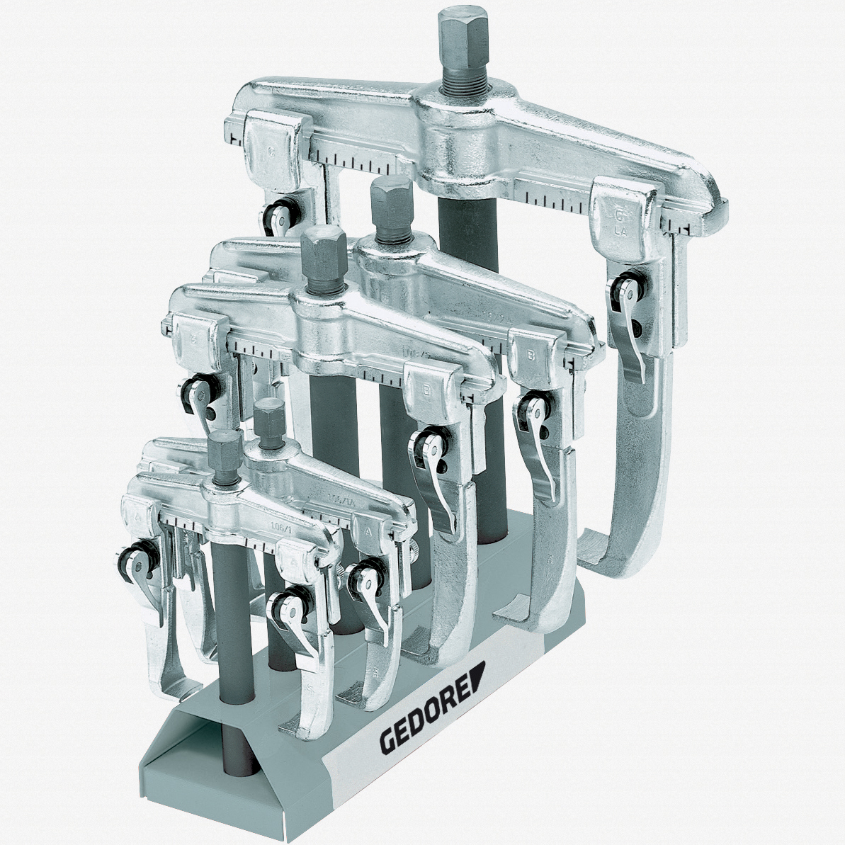 Gedore 1.06/ST-E Puller set with display stand 1.06/1-E-1.06/3-E - KC Tool