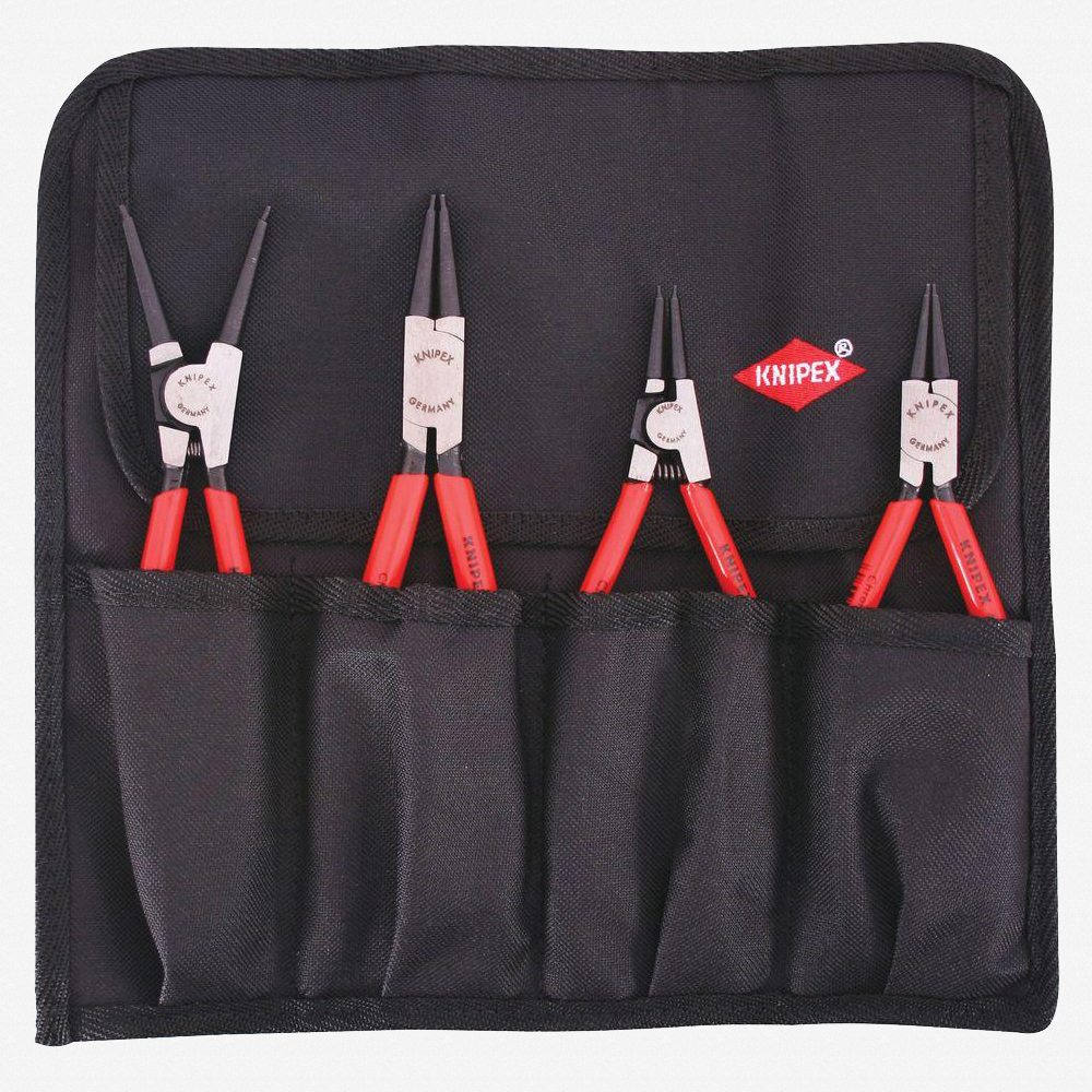 Knipex 9K-00-19-53-US 4 Piece Circlip Pliers Set in Pouch - Straight  - KC Tool