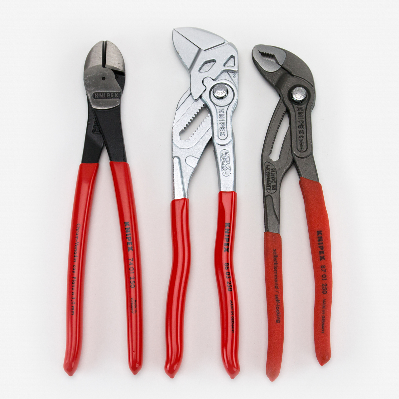 "Knipex 9K-00-80-117-US 3 Piece 10"" Pliers Set - KC Tool"