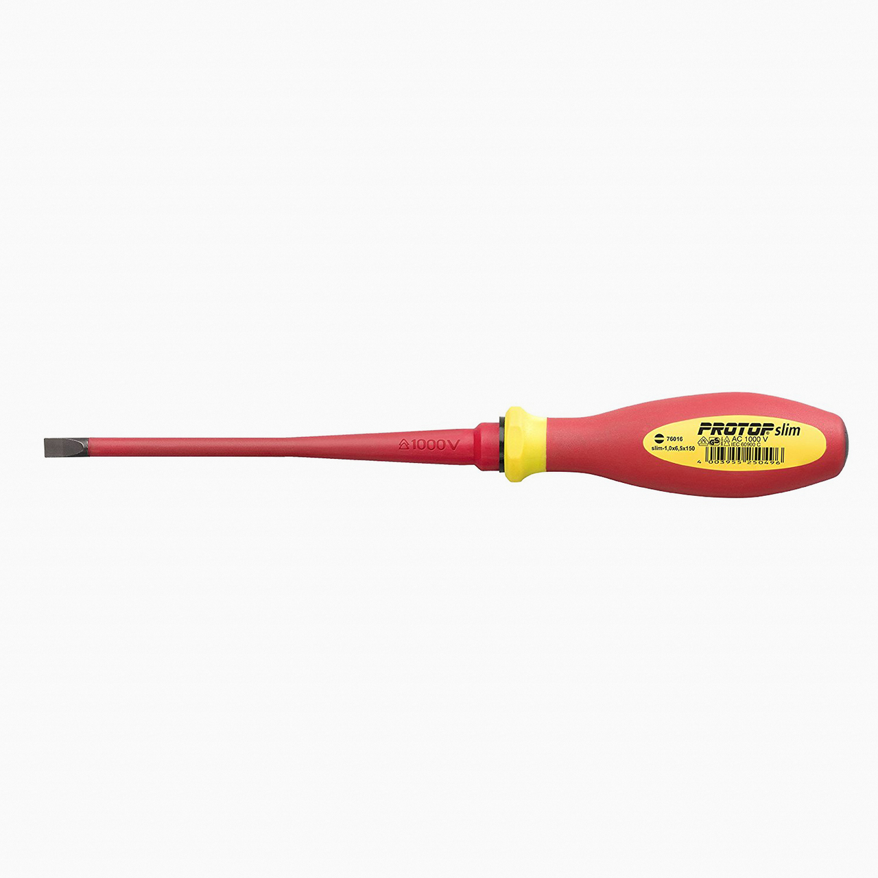 Witte 76015 5.5 x 125mm Protop VDE Slim Insulated Slotted Screwdriver - KC Tool