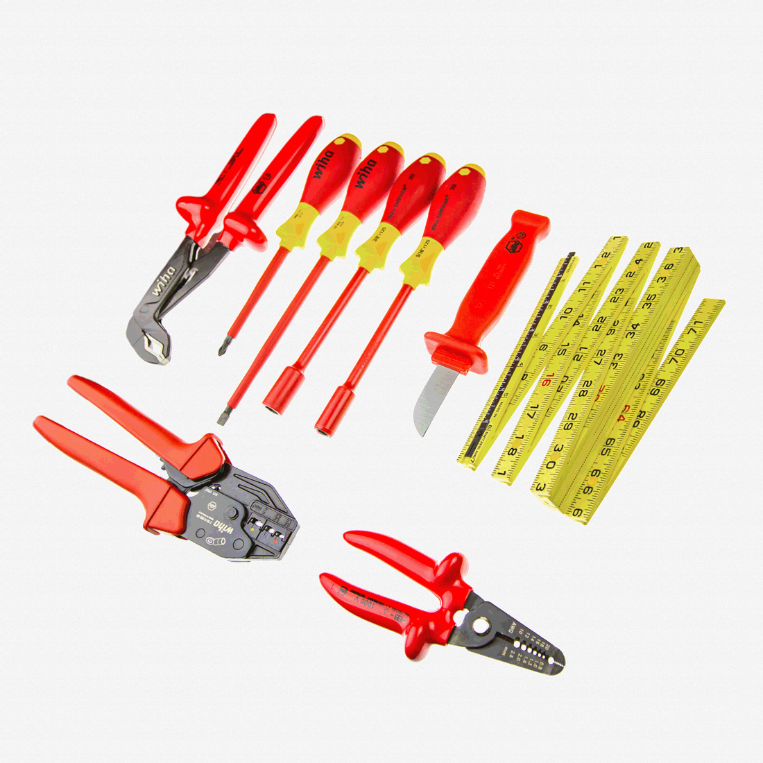 9 Piece Electricians Starter Tool Kit - KC Tool