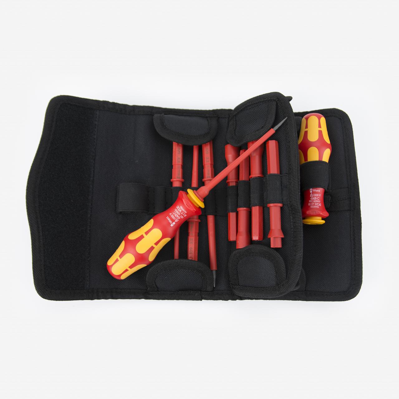Wera 347107 Kraftform Kompakt VDE 60 i/62 i/65 i/18 Slotted/Phillips/PoziDriv/Cabinet Insulated Blade Set - KC Tool