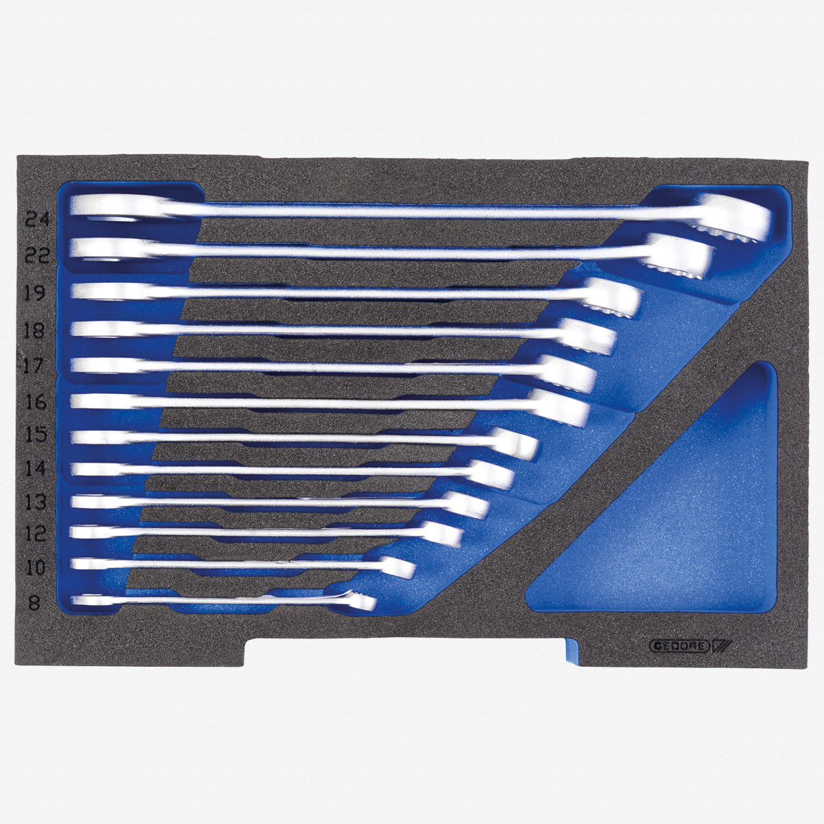 Gedore 1100 CT1-7 Combination spanner set, in 1/2 L-BOXX 136 Module - KC Tool