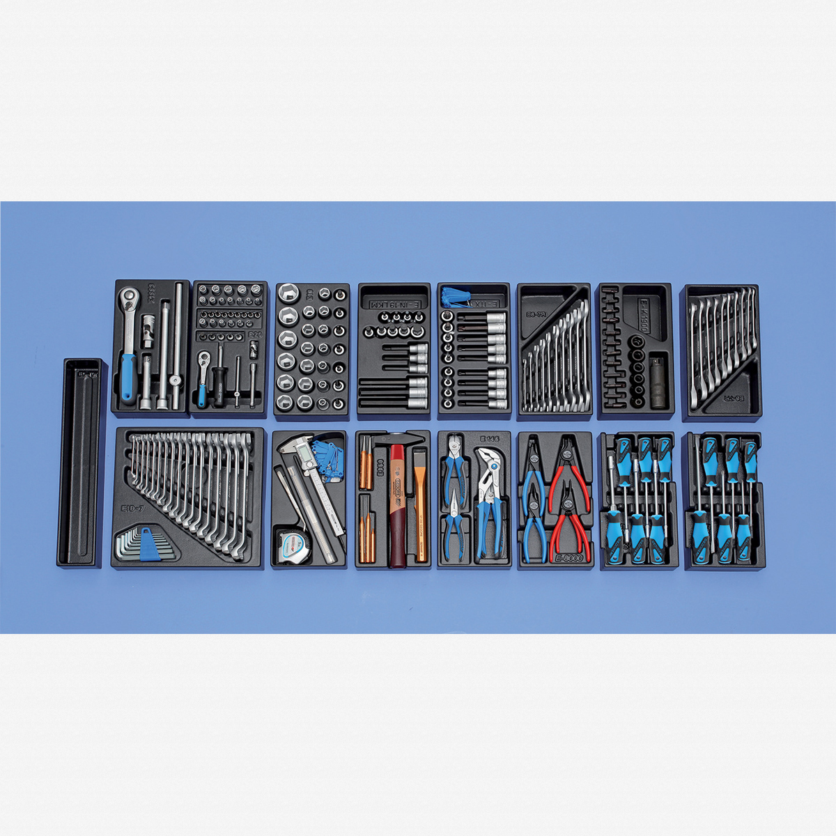 Gedore 1500 ES-02-2004 Tool assortment with tool trolley - KC Tool