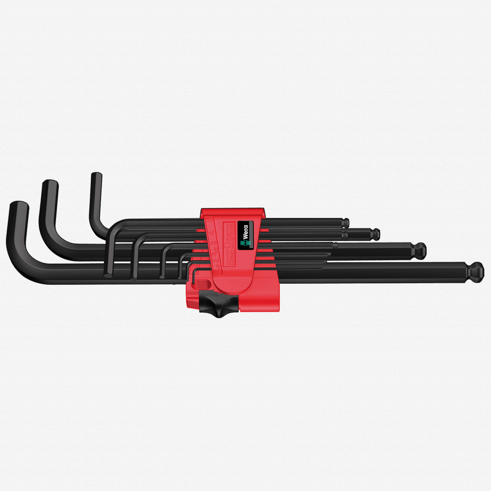 Wera 022086 9 Piece Hex + Ball End Hex Metric L-key Clip Set - KC Tool