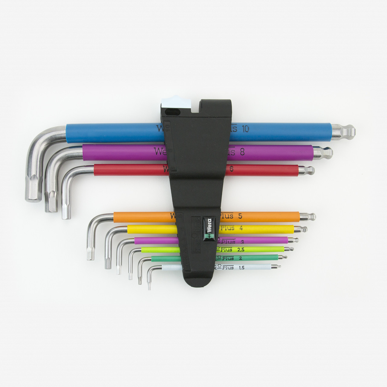 Wera 022669 Metric Multicolor Stainless Steel Ball End Hex Key Set - KC Tool