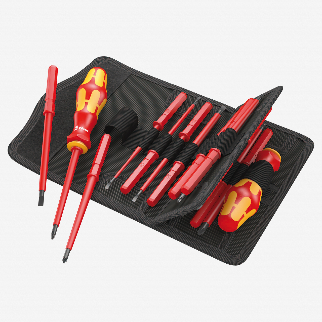 Wera 059030 Kraftform Kompakt VDE 60 i/65 i/67 i/17 SL/PH/PZ/PZS/TX Insulated Screwdriver Set - KC Tool