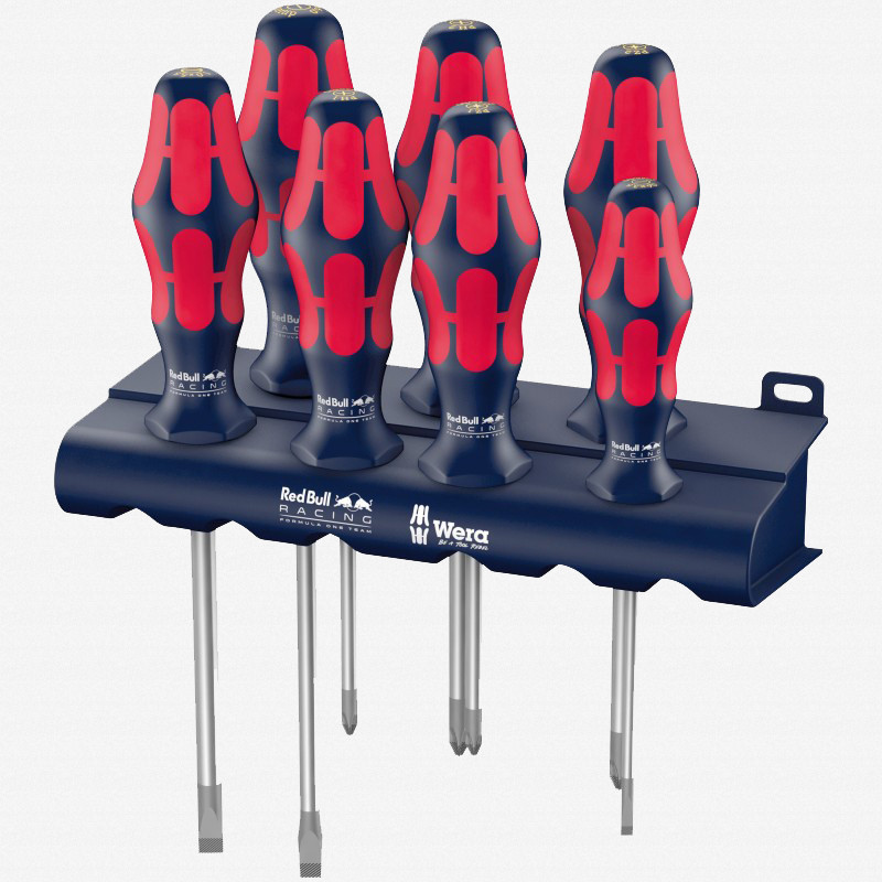 Wera 227700 Red Bull Racing Kraftform Plus Screwdriver Set + Rack - KC Tool