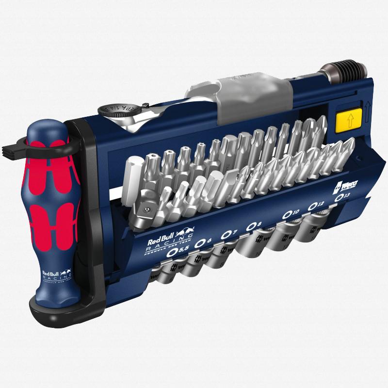 Wera 227704 Red Bull Racing Tool-Check Plus Bit Ratchet Set with Sockets - Metric - KC Tool