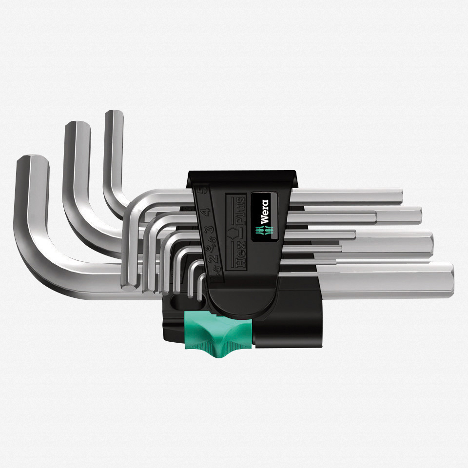 Wera 021406 Metric Chrome Hex L-key Set - KC Tool