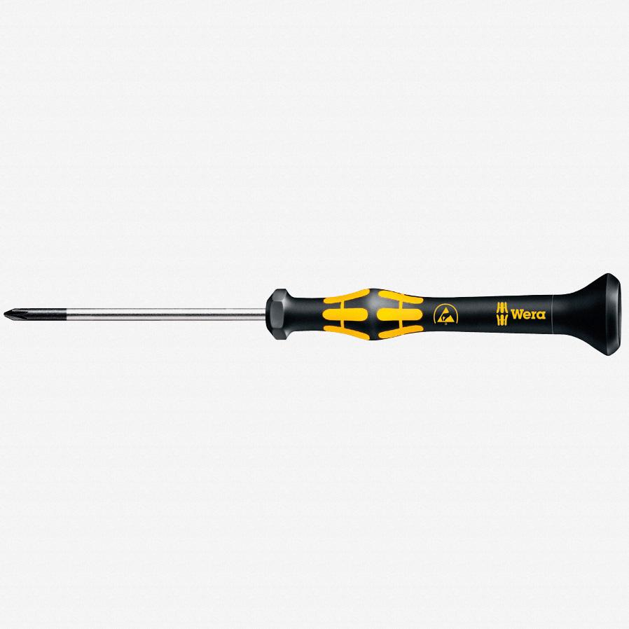 Wera 030112 PH #1 x 80mm ESD Safe Phillips Precision Screwdriver - KC Tool
