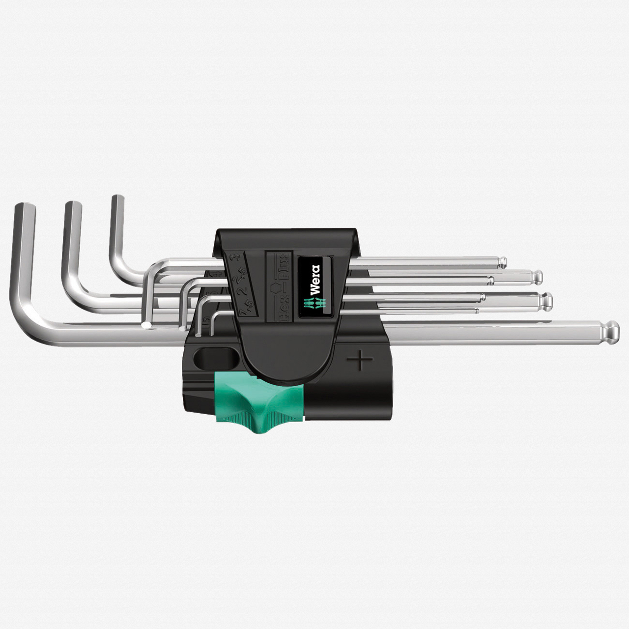 Wera 022181 Chrome Ball End Hex Metric L-key Set - KC Tool