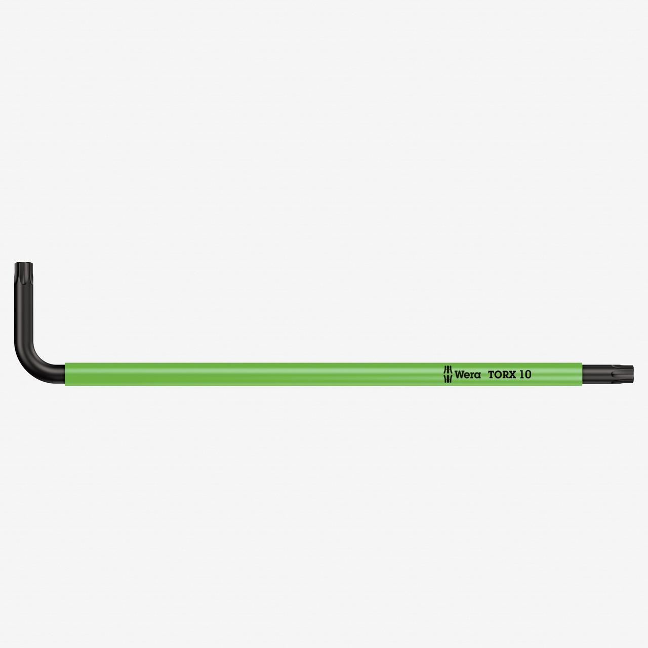 Wera 024352 T10 x 85mm Torx + Security Torx L-key (Light Green) - KC Tool