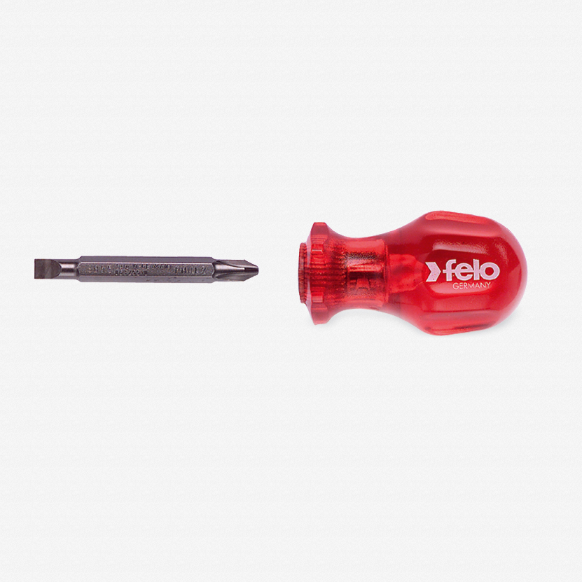 Felo 31068 Reversible Blade Screwdriver - 5.5mm Slotted and #2 Phillips - KC Tool