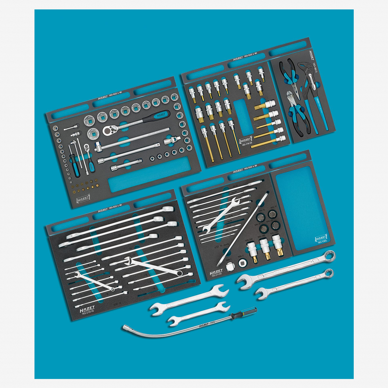 Hazet 0-22/128 Tool assortment for commercial vehicles  - KC Tool