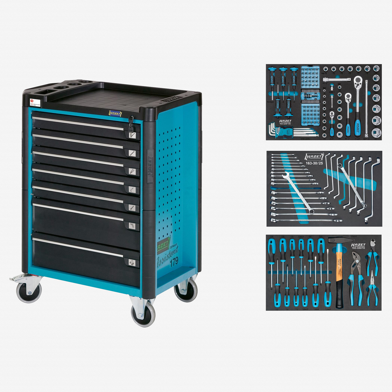 Hazet 179-7/141 Tool trolley Assistent with assortment  - KC Tool
