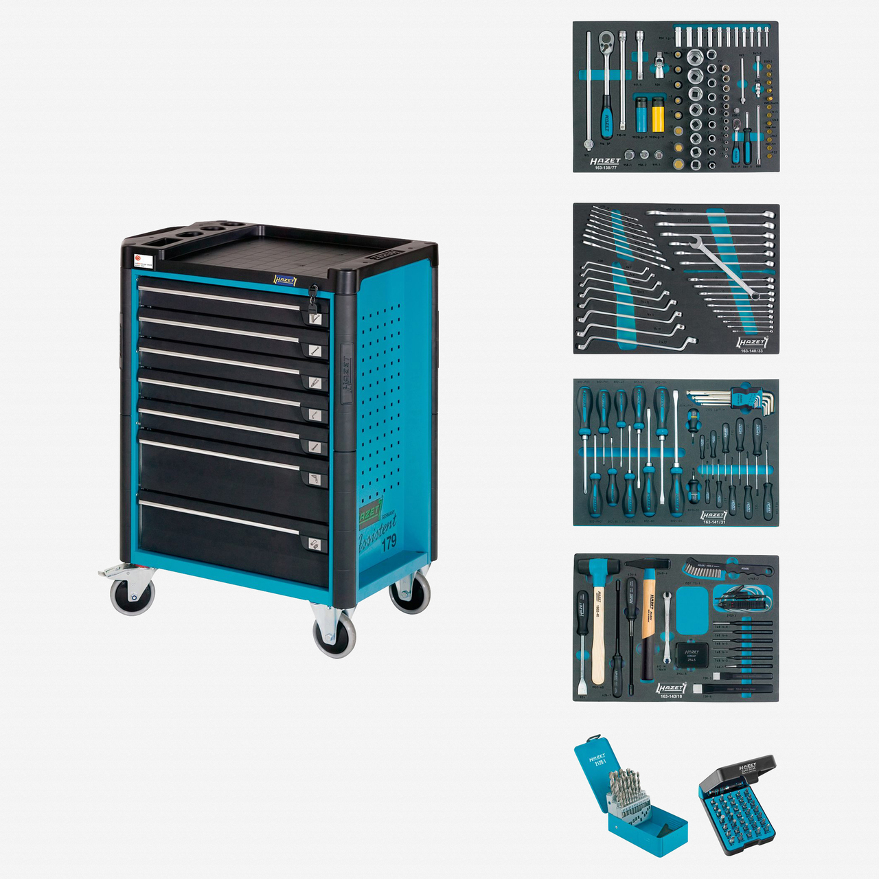 Hazet 179-7/220 Tool trolley Assistent with assortment  - KC Tool