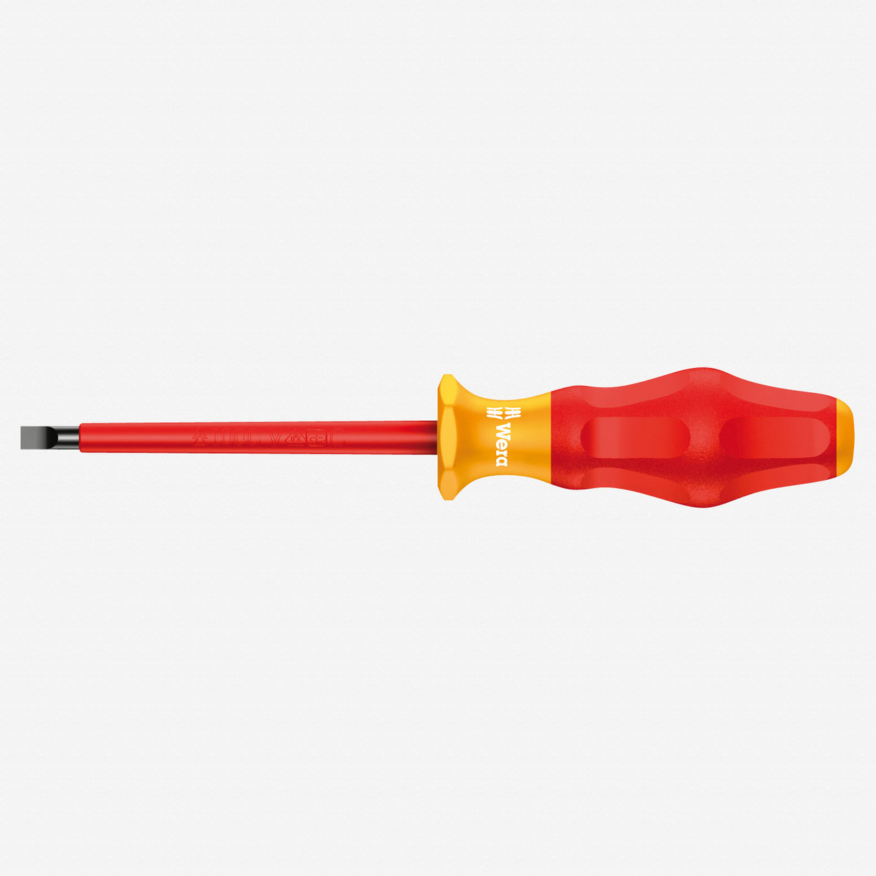 Wera 031582 3.5 x 100mm VDE Insulated Slotted Screwdriver - KC Tool