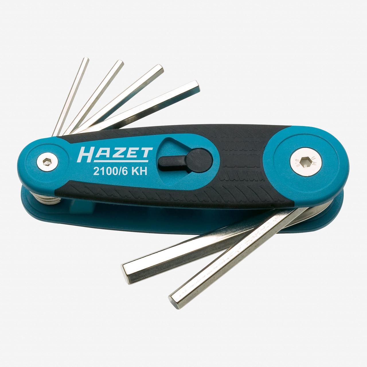 Hazet 2100/6 KH  Hex Metric L-key Fold Up Set 2.5 - 8mm - KC Tool