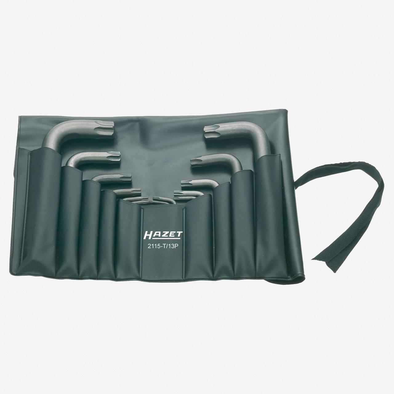 Hazet 2115-T/13P 13 Piece Torx L-key Set in Plastic Roll T7 - T60 - KC Tool
