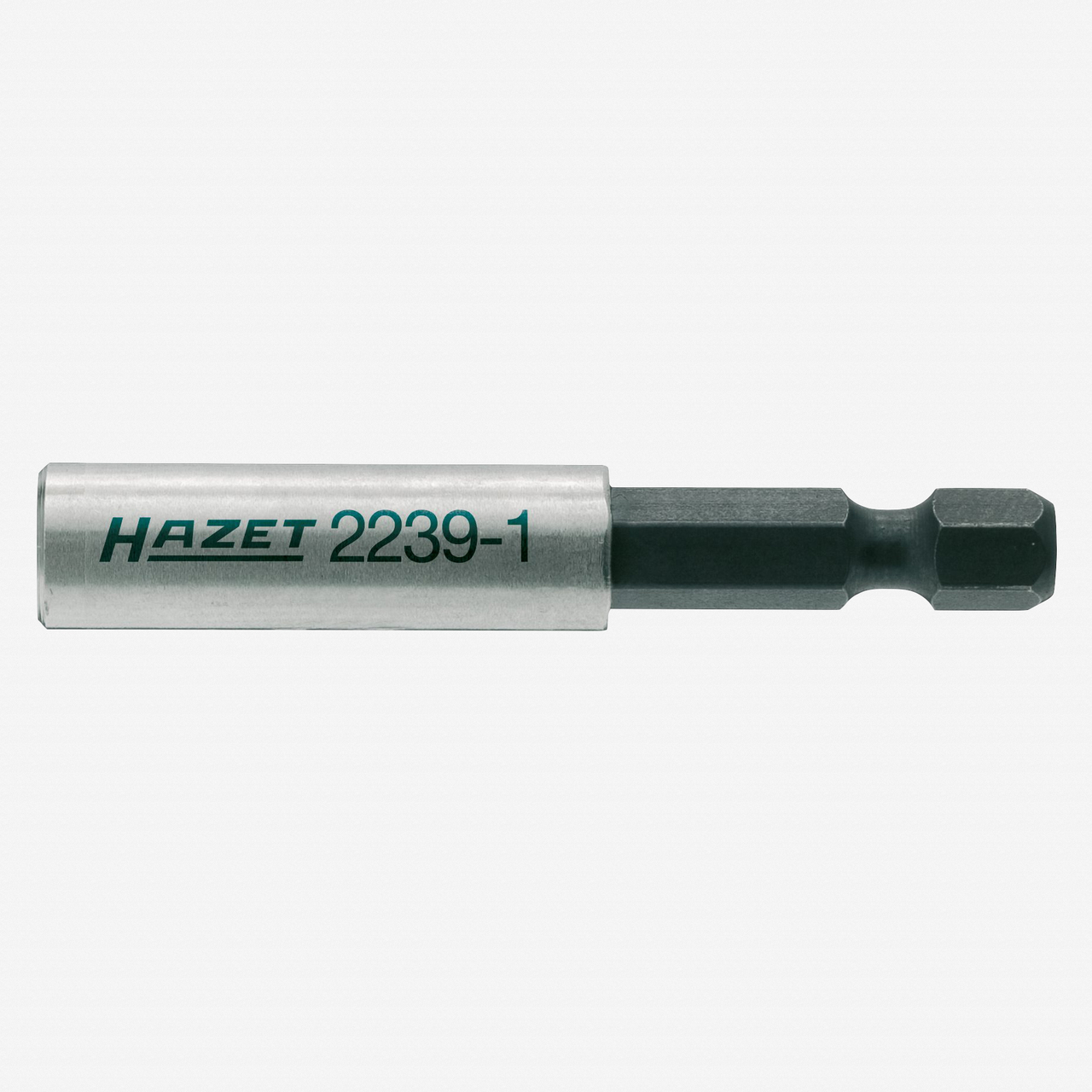 "Hazet 2239-1 1/4"" hex male to 1/4"" hex female Adapter - 60mm, Magnetic - KC Tool"