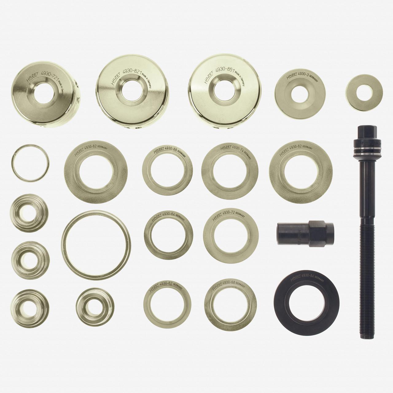 Hazet 4930-1/22 Wheel bearing tool set, 22 pieces, hydraulic  - KC Tool