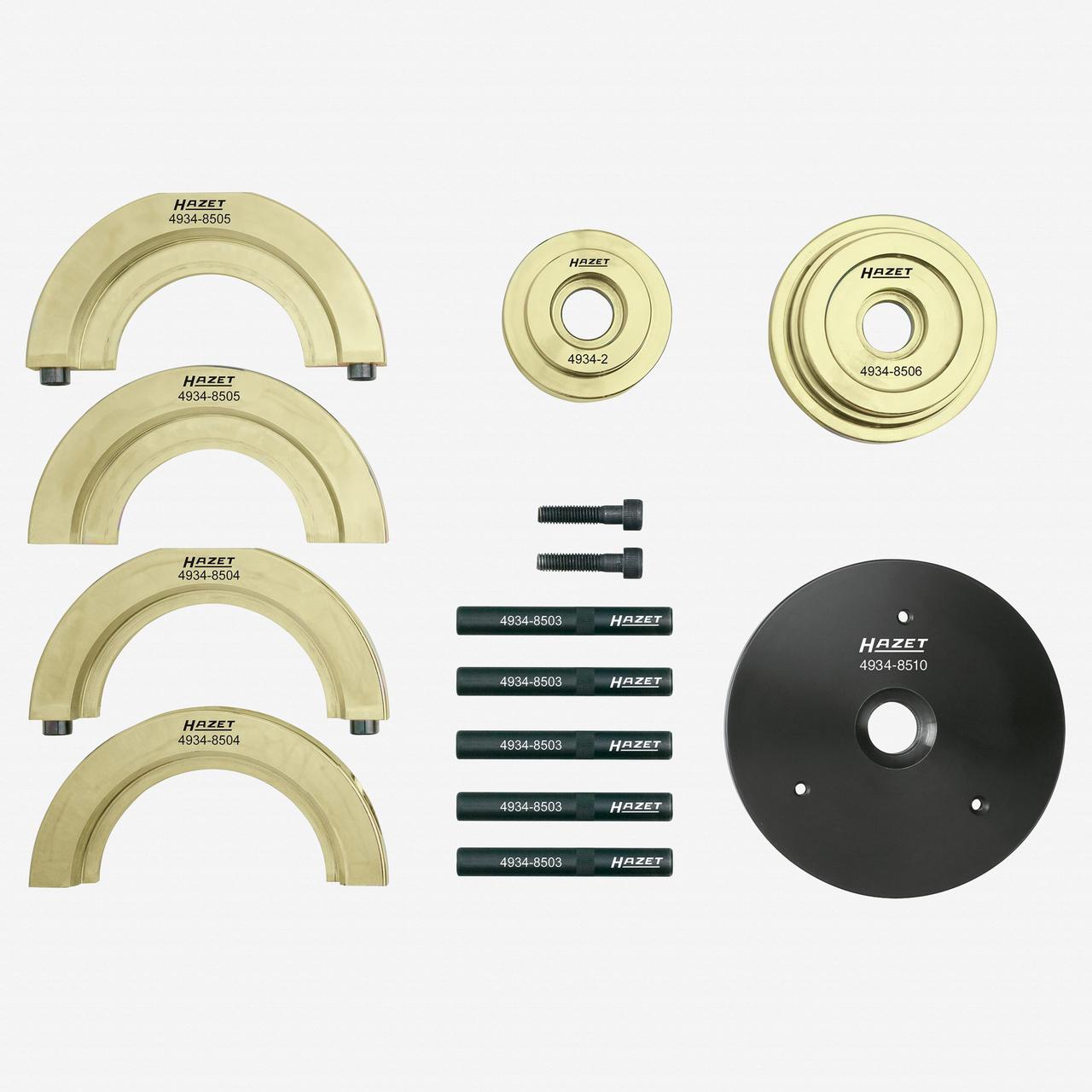 Hazet 4934-2585/12 Compact wheel hub bearing unit tool set  - KC Tool