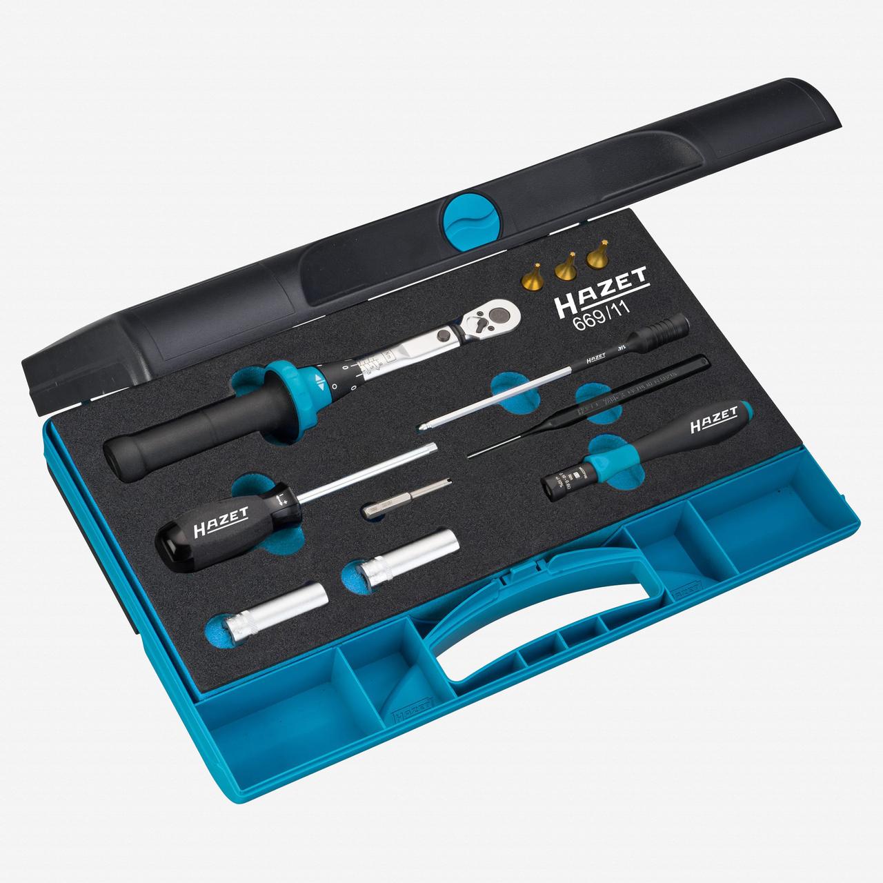 Hazet 669/11 Tyre pressure control system tool set (TPMS) 0.1 - 9 Nm  - KC Tool