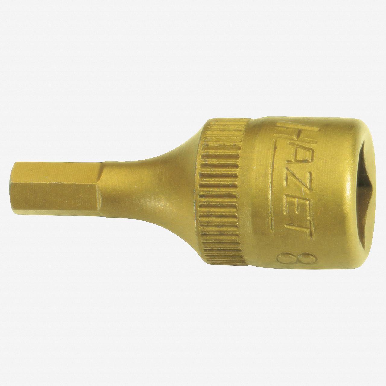 """Hazet 8501-2.5 2.5mm Hex TiN 1/4"""" Socket - KC Tool"""