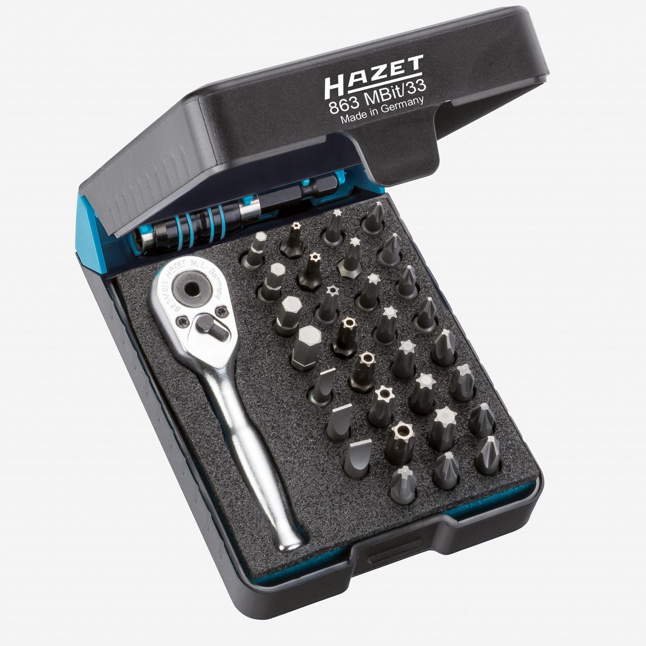 "Hazet 863MBIT/33 1/4"" Bit set  - KC Tool"