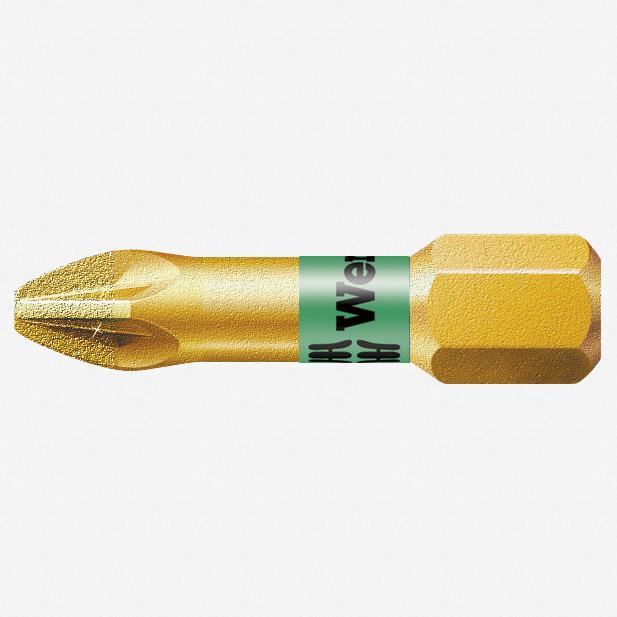 Wera 056700 #1 x 25mm Pozidriv BiTorsion Diamond Coated Bit - KC Tool