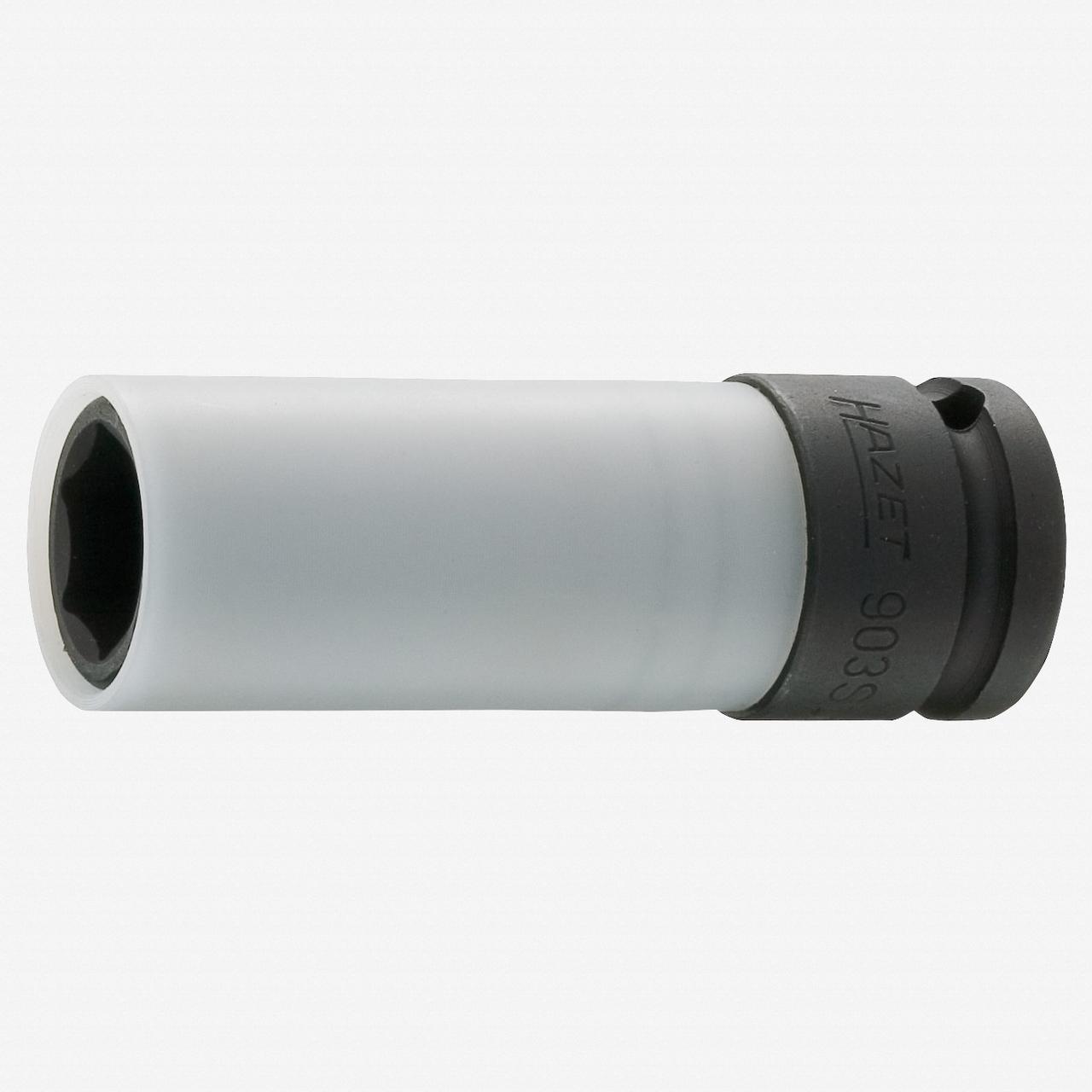 "Hazet 903SLG-15 15mm x 1/2"" Lug Nut Impact Socket with Plastic Sleeve  - KC Tool"