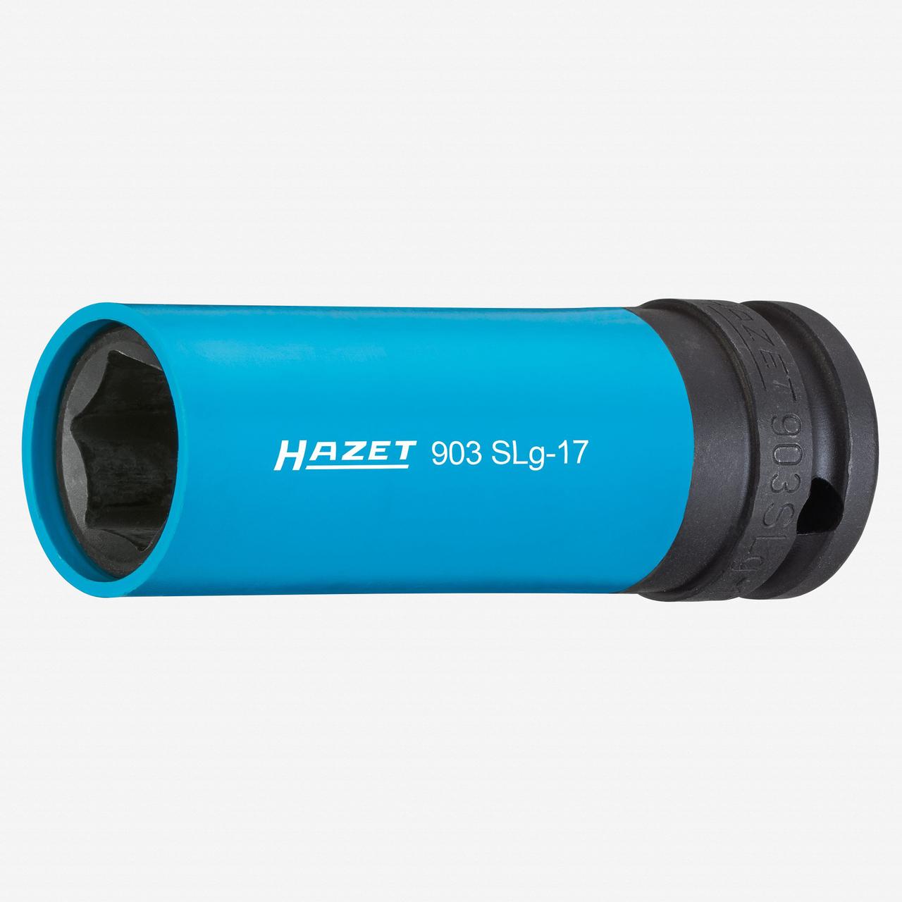 "Hazet 903SLG-17 Impact socket (6-point) 17mm x 1/2"" Lug Nut Impact Socket with Plastic Sleeve  - KC Tool"