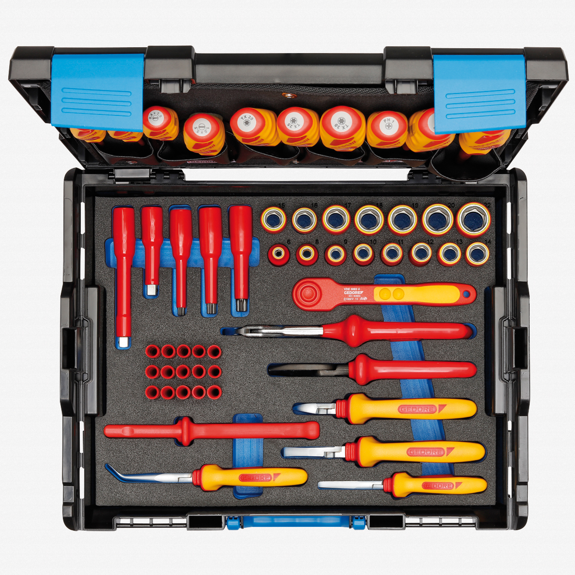 Gedore 1100-1094 VDE 53 Pc Tool Assortment - Hybrid - KC Tool