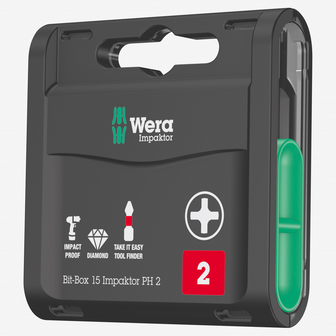 Wera 057752 Bit-Box 15 Impaktor PH Phillips #2 - KC Tool