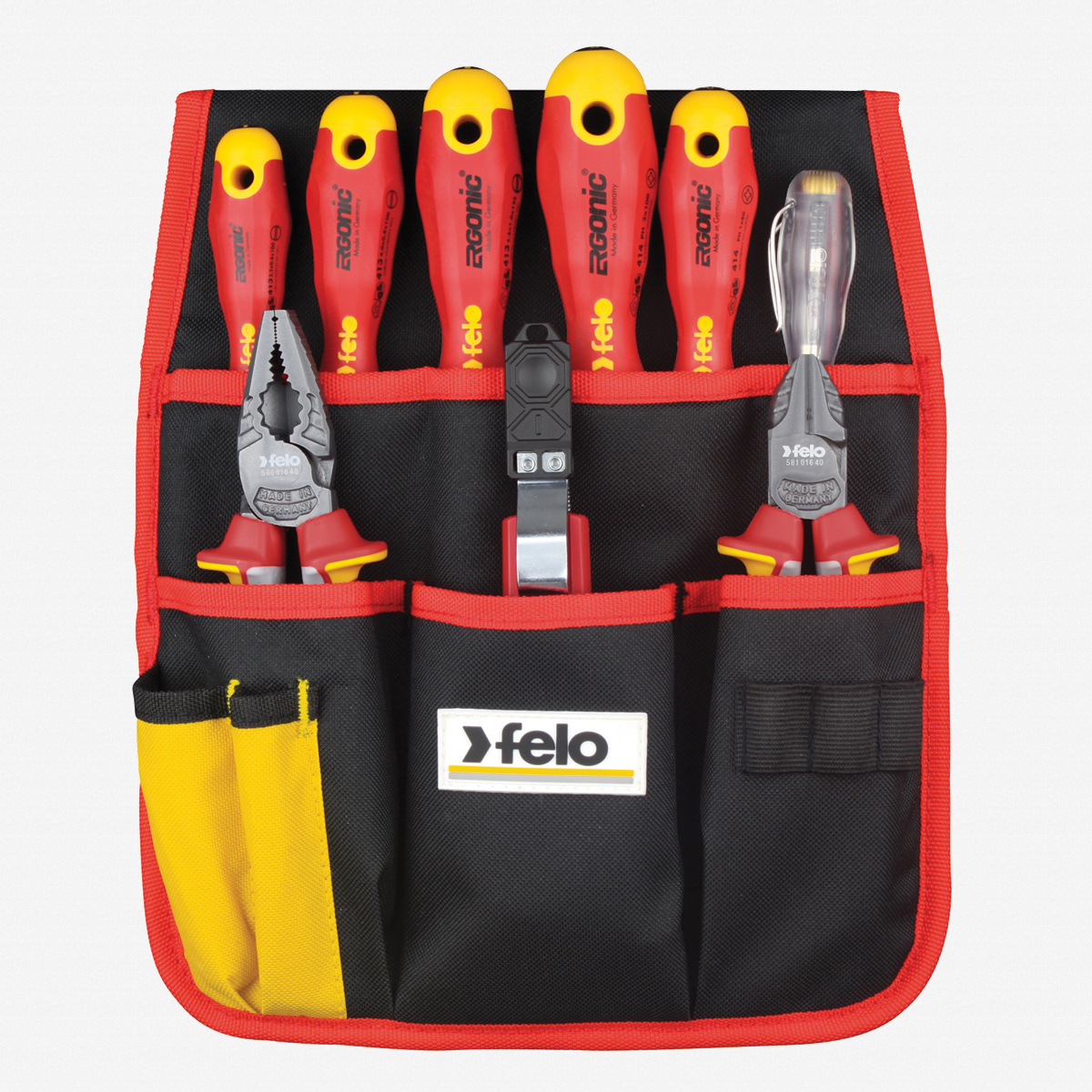 Felo 63859 9 Piece Insulated Belt Pouch Set - KC Tool