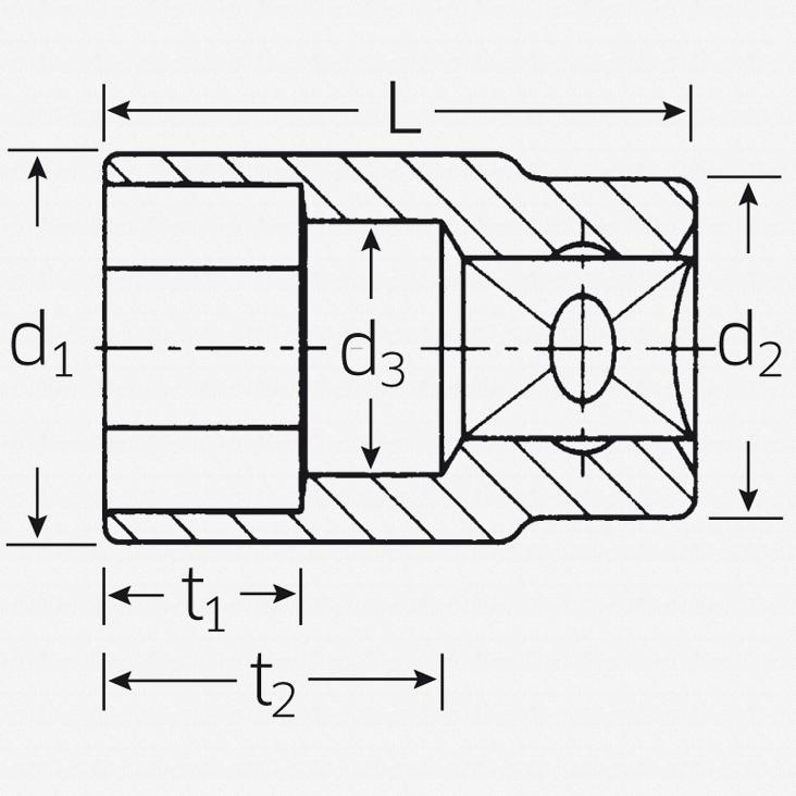 "Stahlwille 456 3/8"" 6-pt Socket, 7 mm - KC Tool"