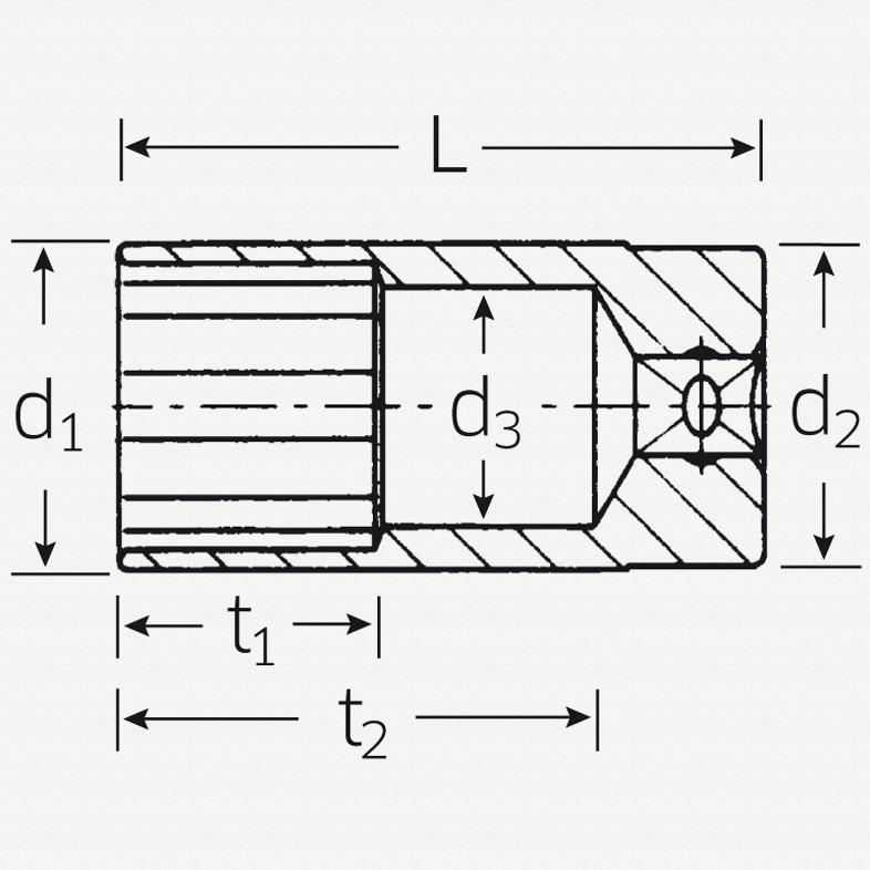 """Stahlwille 460a 3/8"""" 12-pt Socket, 7/16"""" - KC Tool"""