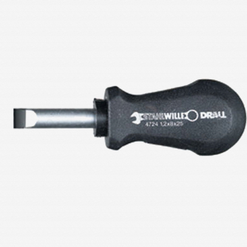 Stahlwille 4724 DRALL 3.5mm Slotted Stubby Screwdriver - KC Tool