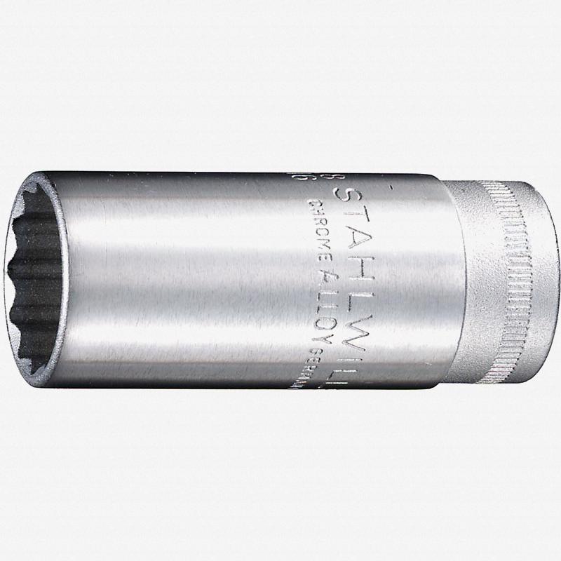 "Stahlwille 46 Extra Deep 3/8"" 12-pt Socket, 14 mm - KC Tool"