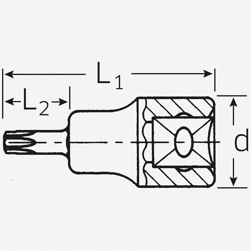 """Stahlwille 54TX 1/2"""" Torx Socket, T50 - KC Tool"""