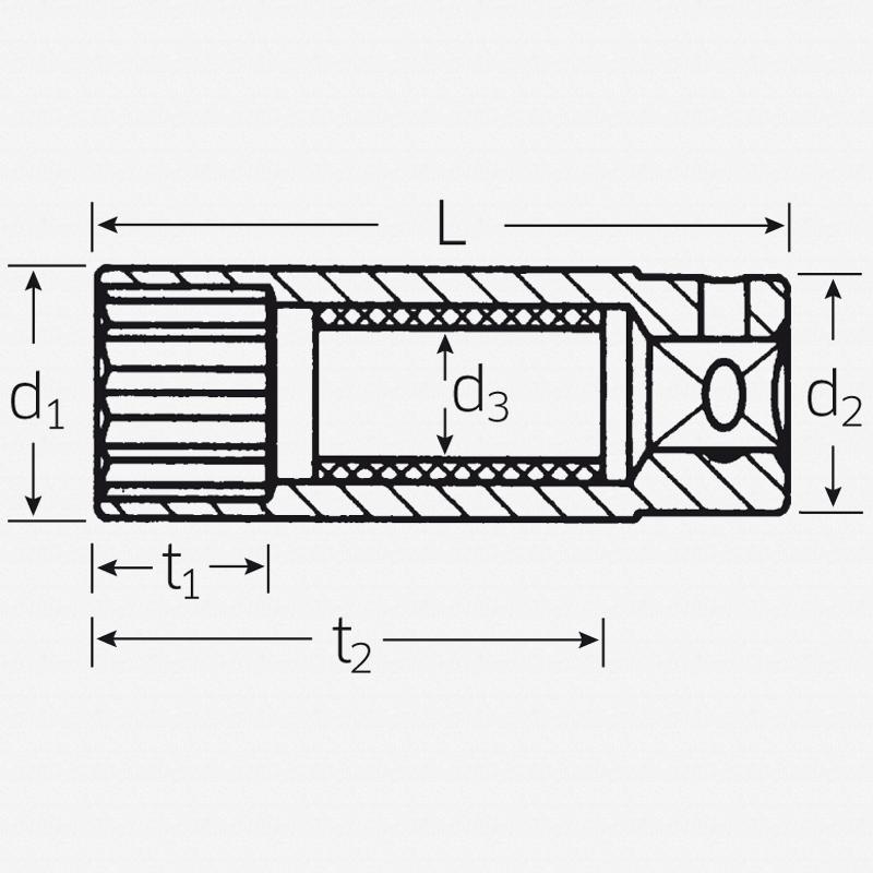 """Stahlwille 4600 3/8"""" Spark plug socket, 16mm - 5/8"""" - KC Tool"""