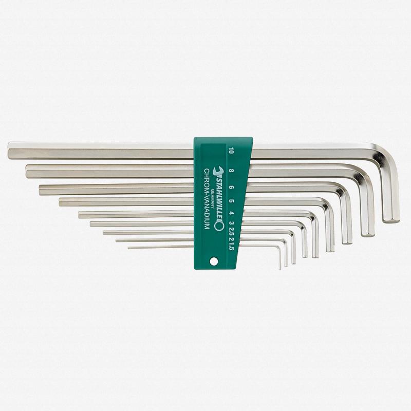 Stahlwille 10765/9 9 Piece Metric Hex L-Key Set 1.5-10mm - KC Tool