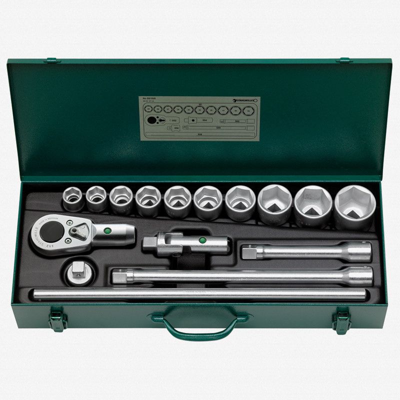 """Stahlwille 55/10/6 3/4"""" Metric Socket Set - KC Tool"""
