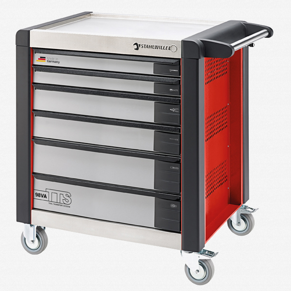 Stahlwille 98VA/6 Tool Trolley TTS, 6 drawers red, RAL 3020 - KC Tool