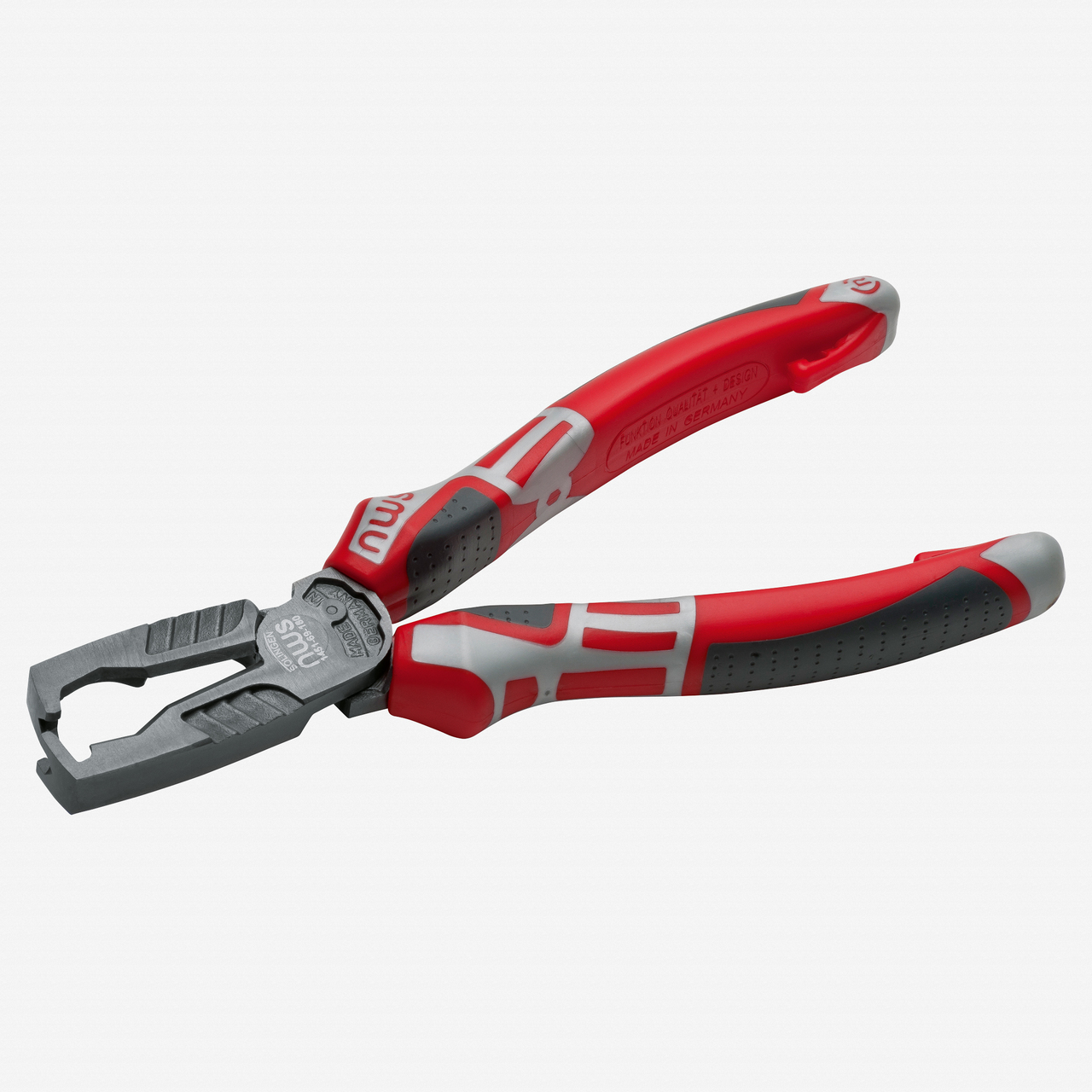 """NWS 1451-69-180 7"""" Multifunctional Wire Stripping Pliers MultiCutter - TitanFinish - SoftGripp - KC Tool"""