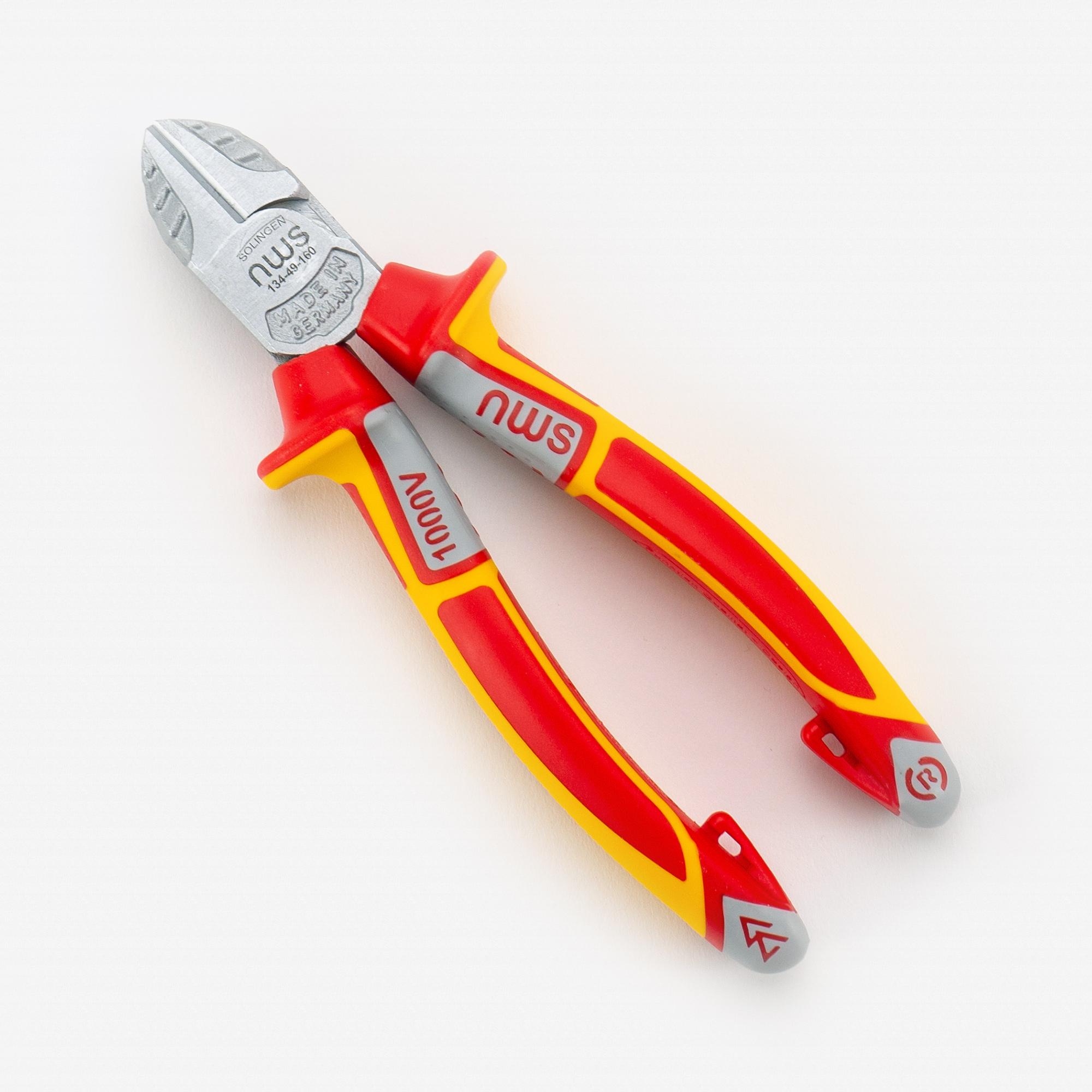 """NWS 134-49-VDE-160 6.25"""" Side Cutter VDE - Matte Chromium - SoftGripp - KC Tool"""
