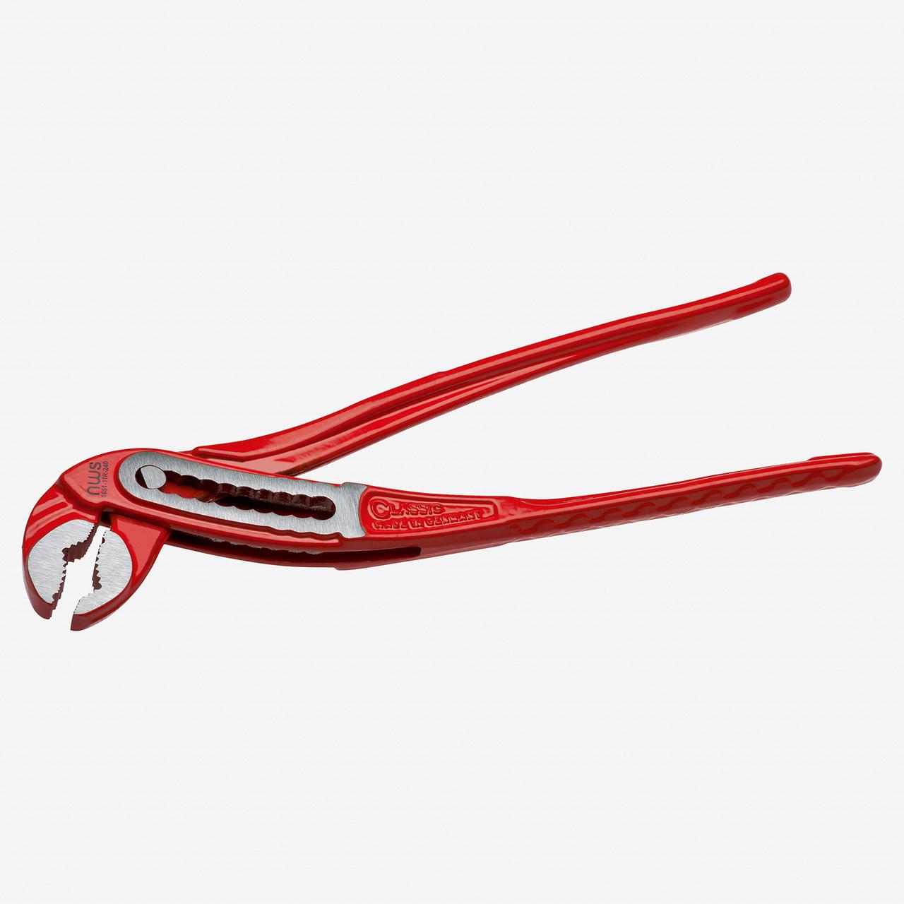 """NWS 1651-11R-300 12"""" Waterpump Pliers ClassicPlus - Atramentized - Plastic Grip - KC Tool"""