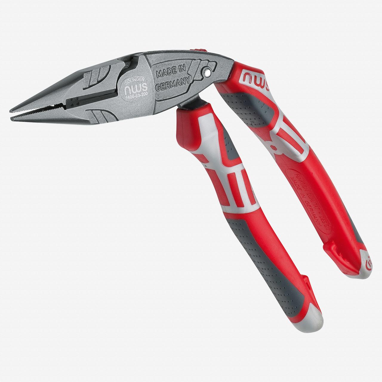 "NWS 1406-69-200 8"" Ergonomical Electrician's Pliers ErgoMulti - TitanFinish - SoftGripp - KC Tool"
